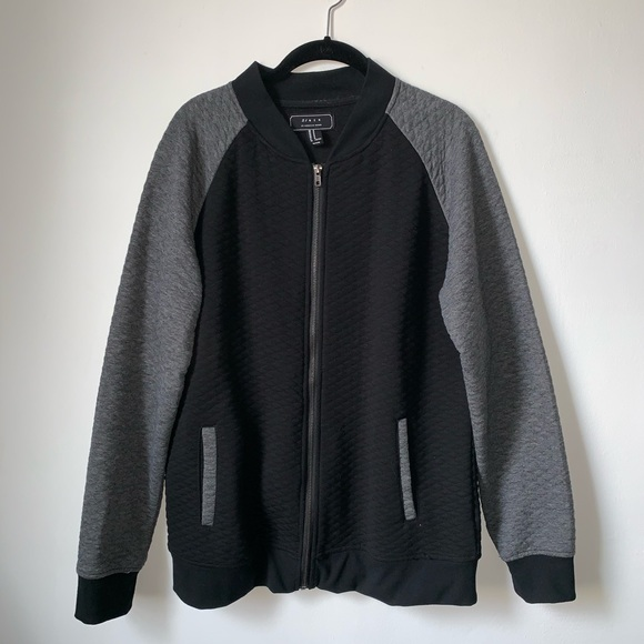 Forever 21 Other - FOREVER21 Quilted bomber full zip jersey jacket